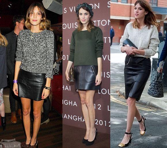 f52d449fb Cómo llevar una falda negra de cuero | LOOKS 50 AÑOS | Faldas, Cuero ...