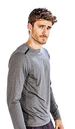 Men's Casual Full-Sleeve Grey #Running #T-shirt