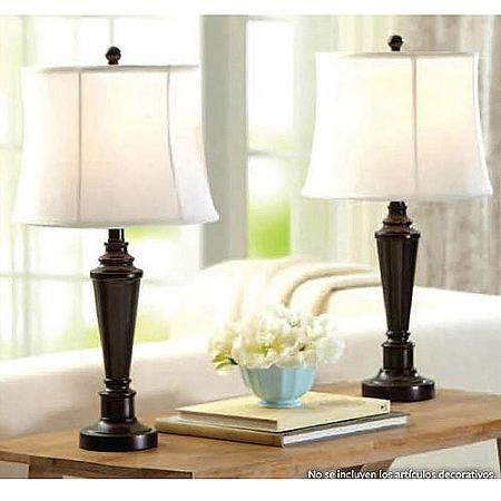 MASTER BEDROOM LAMPS (COMES AS A SET) Better Homes and Gardens Transitional Lamp, Dark Bronze Finish, 2pk