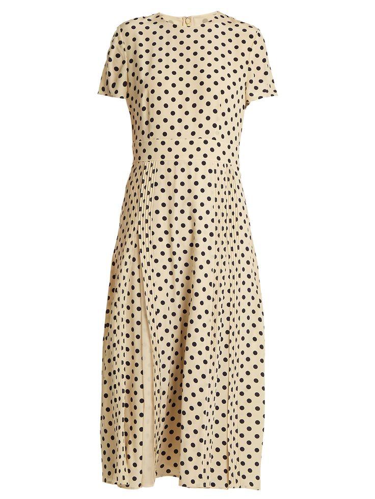 Burberry London England Corin polka-dot print silk dress