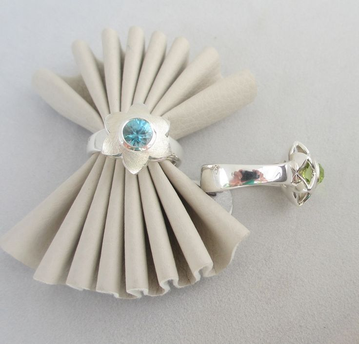 Summerflower ring with blue Topaz