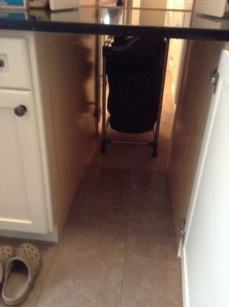 Under the counter laundry pass thru from master closet to