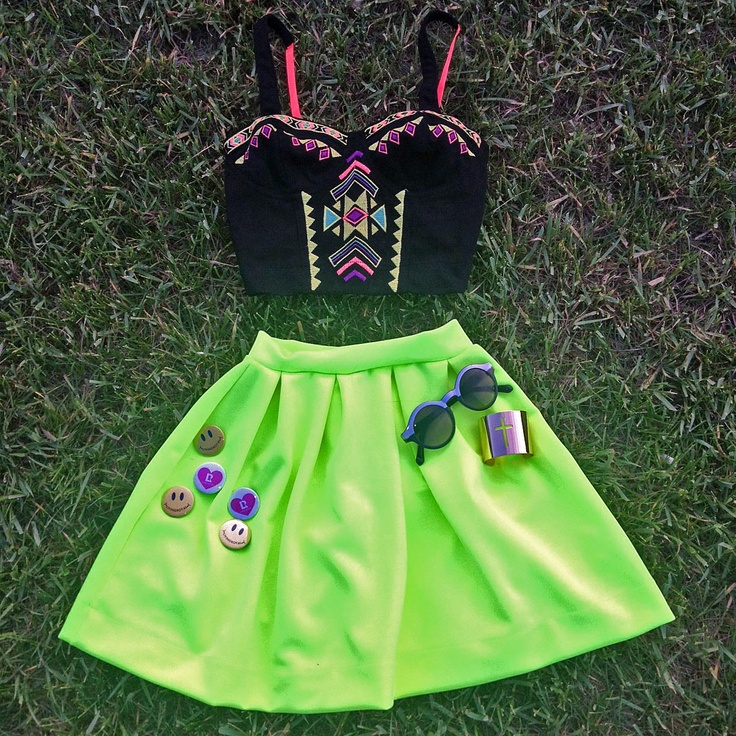 neon party outfit ideas