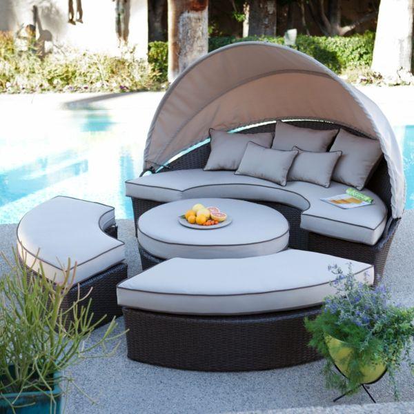 salon de jardin resine avec coussins blancs - Salon De Jardin Mtal Color