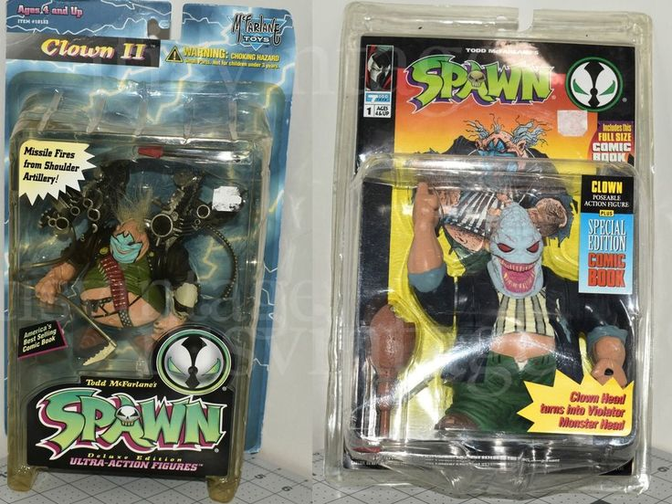 Vintage Comic Book Spawn Clown 1 & 2 Action Figure Lot MIB McFarlane | Toys & Hobbies, Action Figures, Comic Book Heroes | eBay!
