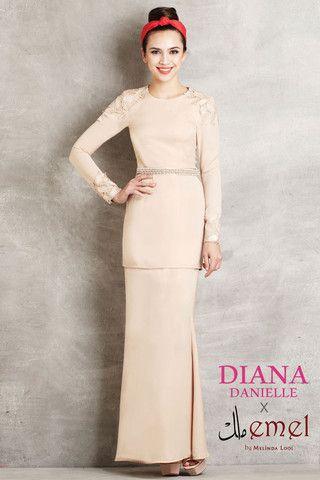 Diana Danielle x emel - Modern Kurung with Lace Embellishments