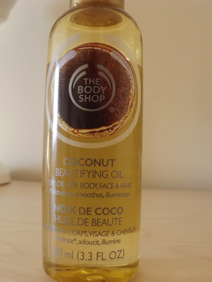 The Body Shop- Beautifying Oil in Coconut  http://www.beautysatchel.co.uk/2012/06/june-favourites.html