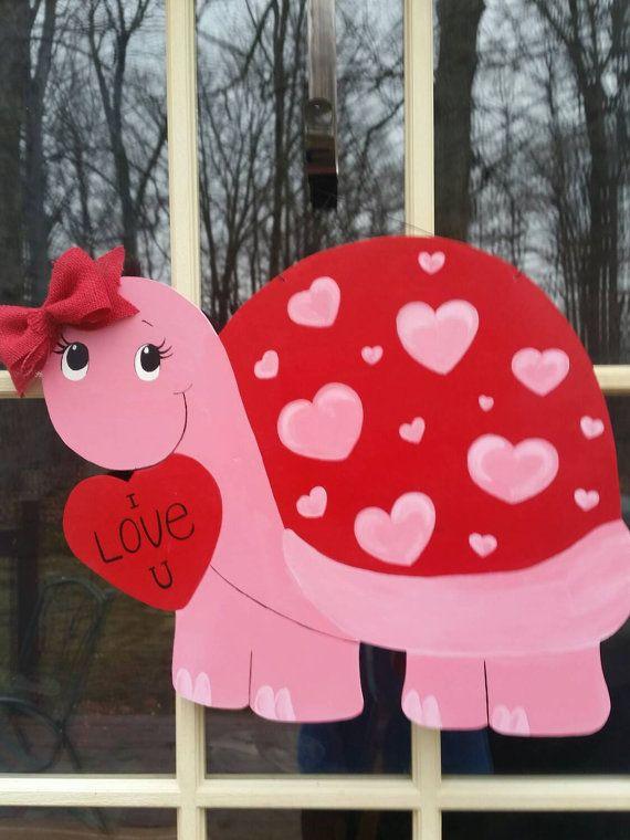 Valentine Day Door Hanger. Valentine Day Door Decor. by MoniLulis