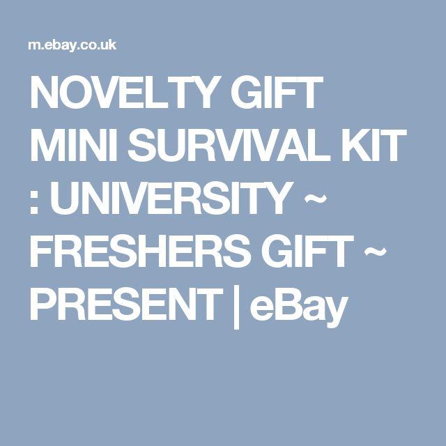 NOVELTY GIFT MINI SURVIVAL KIT : UNIVERSITY ~ FRESHERS GIFT ~ PRESENT    eBay