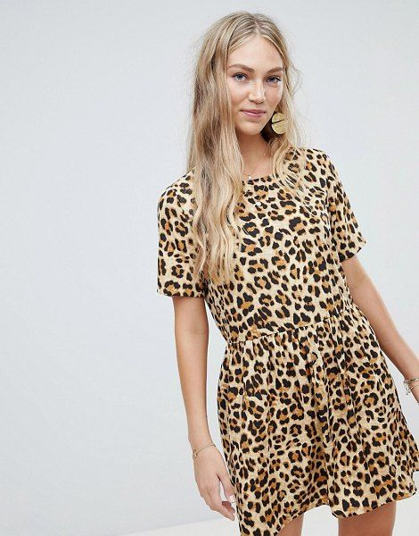 27ef967122 Vero Moda Oversize Animal Print Smock Dress | Animal Prints | Smock ...