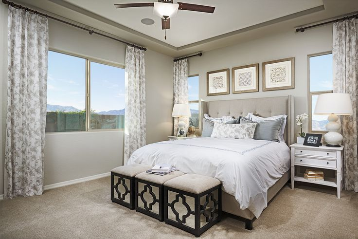 Suggestion: Put the snooze button a bit farther from reach in this master bedroom. | Allman model home | Mesa, Arizona | Richmond American Homes