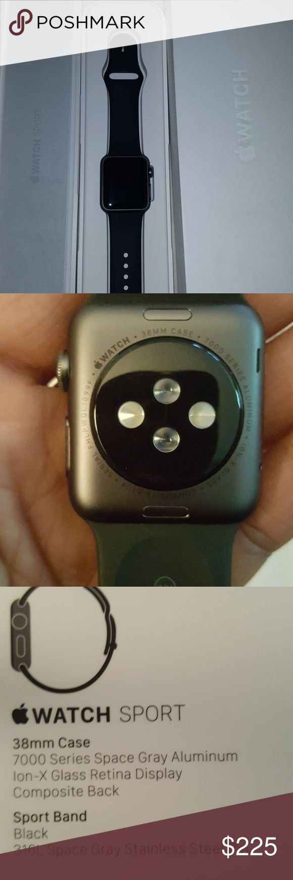 Apple Watch Sport S1 Worn once. My iPhone is for work only, so I have no use for this. Price firm. No trades. Apple Accessories Watches