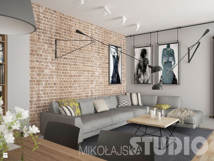 Salon w lofcie - Salon - Styl Industrialny - MIKOŁAJSKAstudio