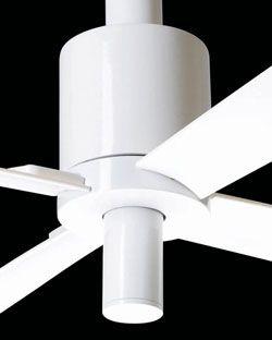 Modern Fan, stille plafond ventilator PENSI nu ook  in wit met of zonder licht!