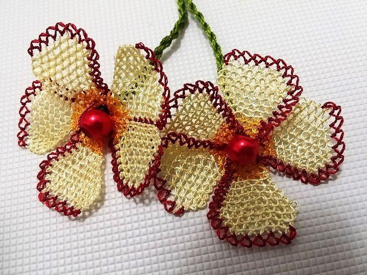İğne Oyaları Gönül Çiçeği Yapılışı