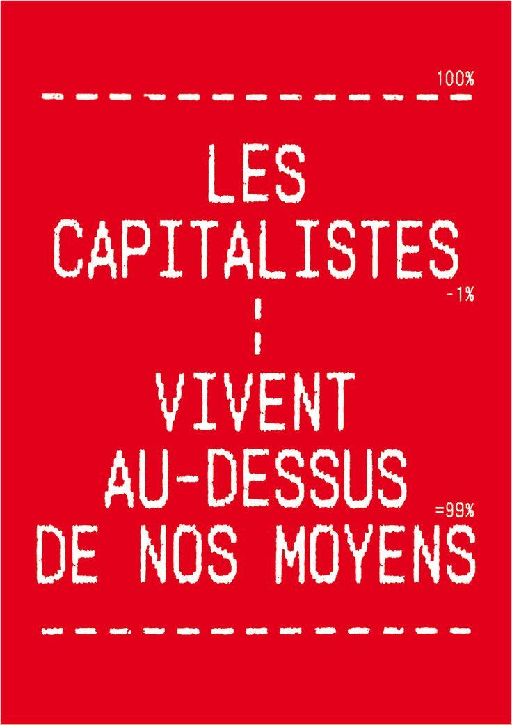 """Sébastien Marchal - """"Les capitalistes vivent au-dessus de nos moyens"""" - Affiche - 2015"""