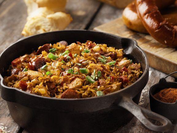 Jambalaya ist ein Rezept mit frischen Zutaten aus der Kategorie Reis. Probieren Sie dieses und weitere Rezepte von EAT SMARTER!