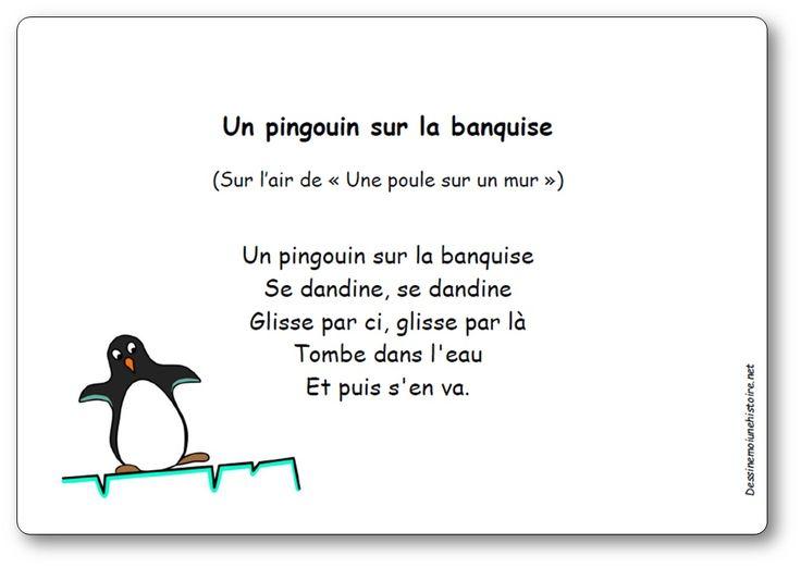 Comptine Un pingouin sur la banquise