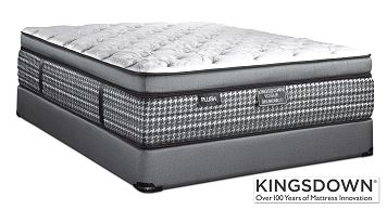 Mattresses and Bedding-Delmonico Plush King Mattress/Boxspring Set