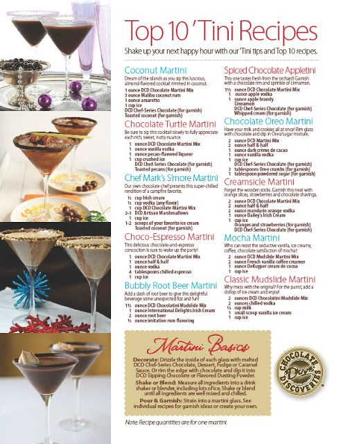 Dove Chocolate Discoveries - Independent Chocolatier Recipes: Martinis!