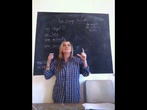Le champ lexical - Leçon 67 -  MOMA SCHOOL- soutien scolaire - Apprendre le français