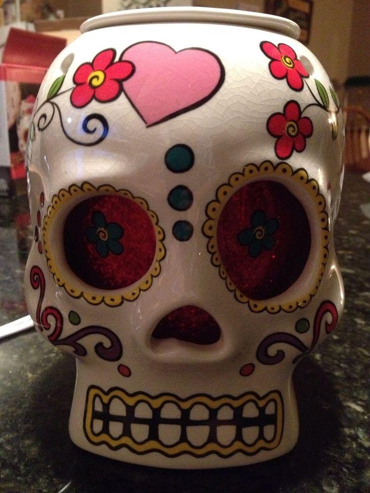 Sugar Skull Wax Warmer Day Of The Dead Scent Warmer