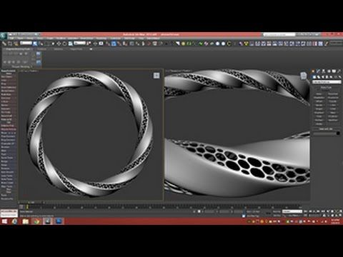 3D Tutorial | Modeling Triply Twisted Torus With Holes | 3dsmax - YouTube