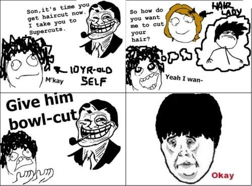 how to fix a bowl cut for guys