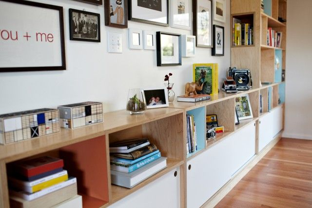 Kerf Rhoads Bookcase.  Perhaps this is the answer for the shelving in the living room.