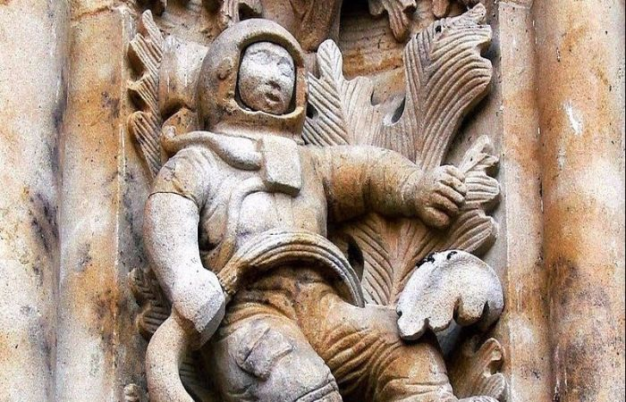 Resolved Mystery Of Salamanca Astronaut From The Cathedral Of 16th Century