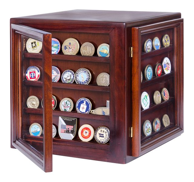 Freedom Display Cases - Coin Display Case with 360 View, $136.99 (http://www.freedomdisplaycases.com/coin-display-case-with-360-view/)
