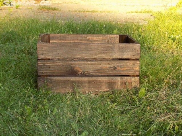 Dřevěné bedýnky/přepravky/truhly tmavě hnědá - obrázek číslo 1