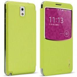 Etui de protection cuir PU avec fenêtre transparente pour Samsung Galaxy note 3