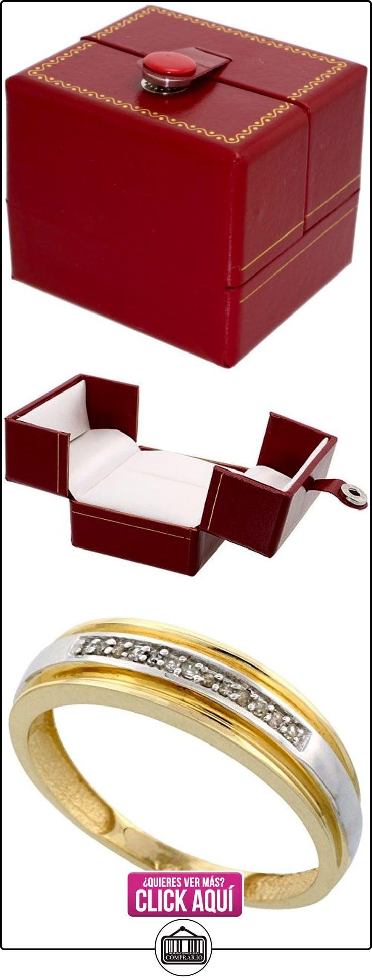 Revoni - Juego de alianzas de oro amarillo con diamante  ✿ Joyas para hombres especiales - lujo ✿ ▬► Ver oferta: http://comprar.io/goto/B005M36R0C