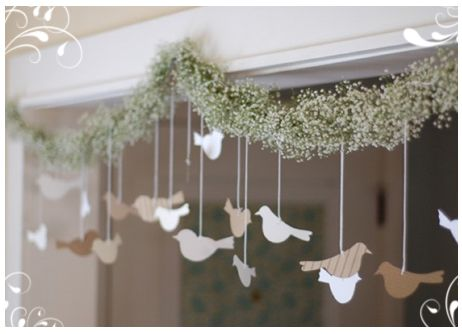 Bird garland, potentially from an arch
