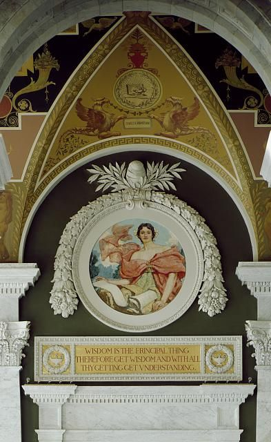 [Second Floor, North Corridor. Mural depicting Wisdom by Robert Reid. Library of Congress Thomas Jefferson Building, Washington, D.C.by Carol Highsmith