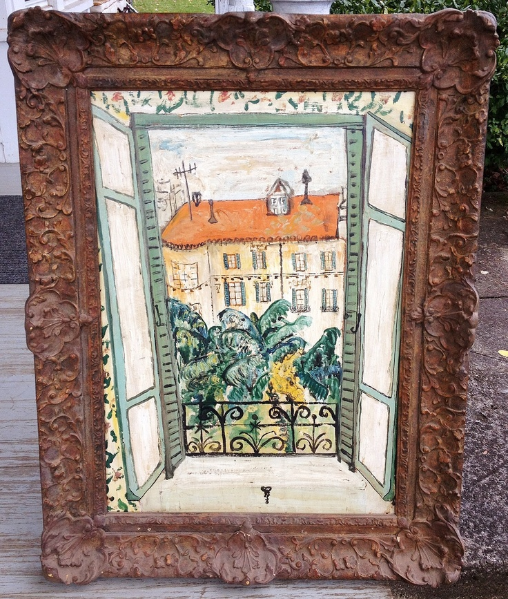 Charming 1940s French Painting in Frame. $395.00, via Etsy.