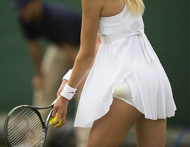 Nike white tennis dress, Katie Boulter, Wimbledon 2016