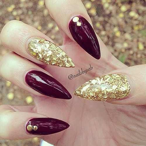 Fall Stiletto Nails