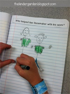 Kindergarten Journeys story response strips -- awesome for interactive notebooks!