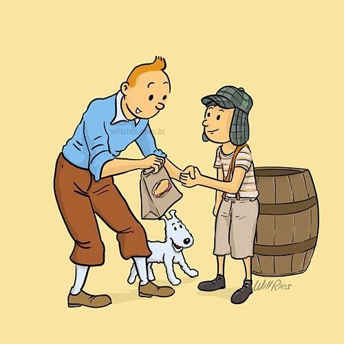 Chaves e Tintin!