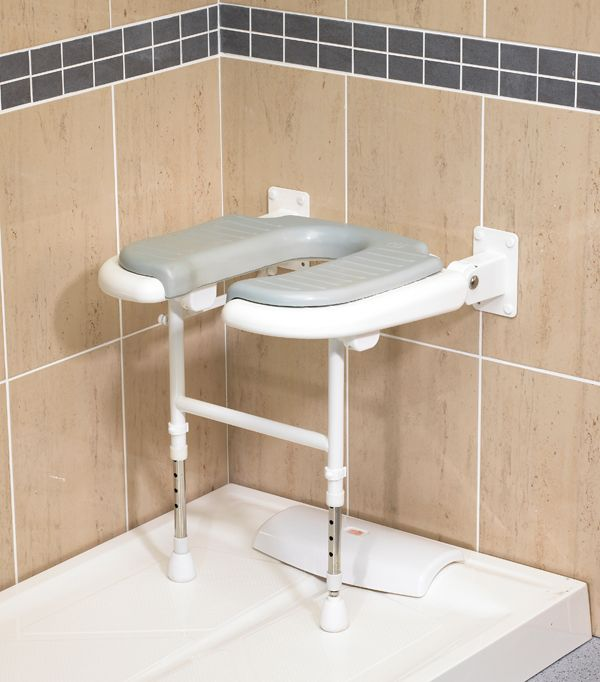 "AKW Wall Mount ""U"" Shaped Shower Chair - CareProdx"