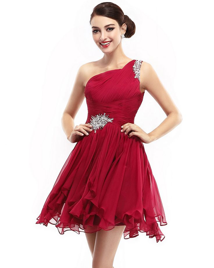Modern-Chic Chiffon Red A-line Cocktail Dress
