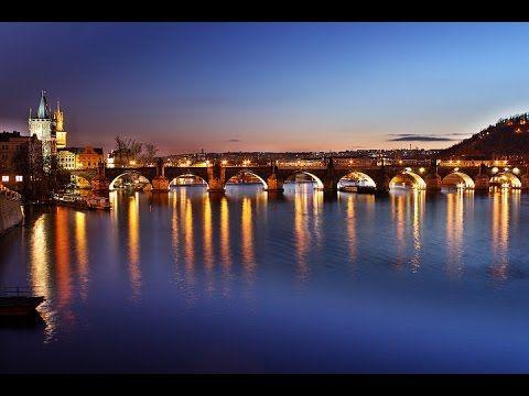 The Charles Bridge at Vltava river in Prague, Czech Republic