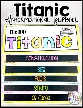 Whether you're reading a book about the Titanic in guided reading time or learning about historical events in social studies, this flapbook gives your students a wealth of facts and information.Made up of six double-sided flaps, this easy-to-assemble flapbook only requires three pieces of paper.