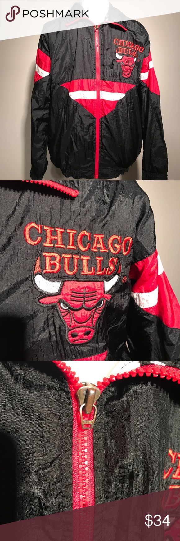 Vintage Chicago Bulls Team Athletic Jacket S M Item is in good condition. Zipper is missing a couple of teeth but still zips up and down. Thanks for looking Jackets & Coats Lightweight & Shirt Jackets