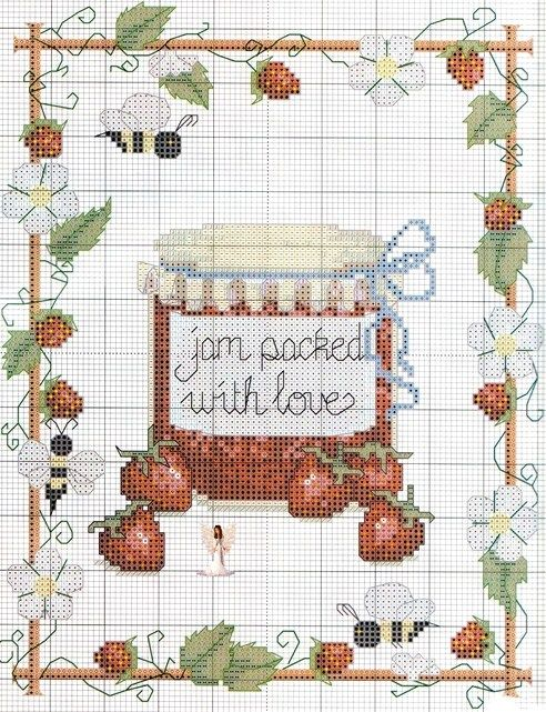 Strawberry Jam Cross Stitch