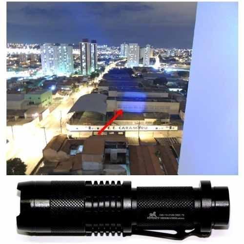 KIT Lanterna Tática LED Profissional SWAT Police 1.8 Km 168.000W CREE Q5 - 470.000 LUMES Reais Recarregável Lanterna de LED - Bateria REcarregável - Alta Intensidade / Qualidade e Economia BATERIA RECARREGÁVEL + CARREGADORES + SINALIZADOR + BRINDE Lant