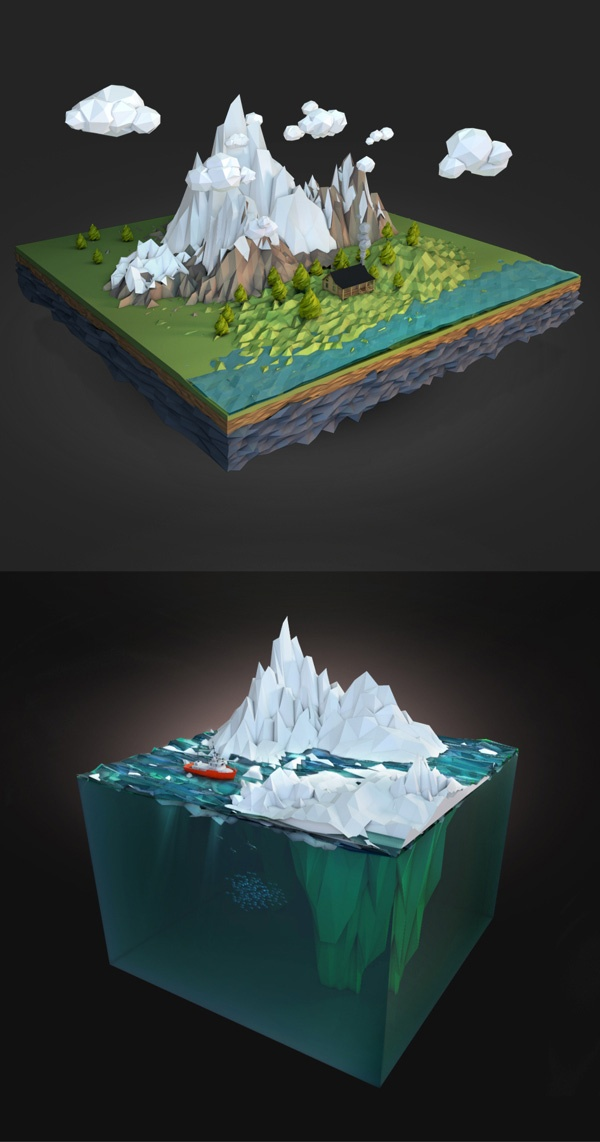 Low Poly illustration by Aldo Pulella