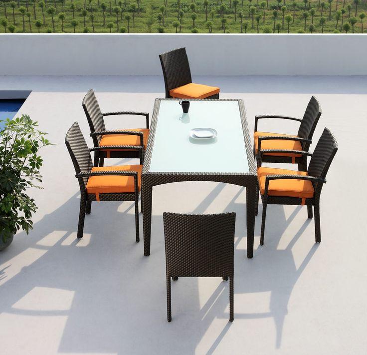 Modern Matte Patio Furniture In Black/White   $1326    Features: Modern  Patio